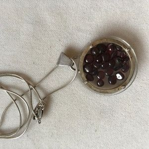 Special and unique Garnet and Silver necklace
